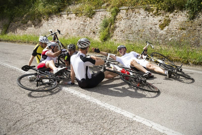 Bike Race Wreck