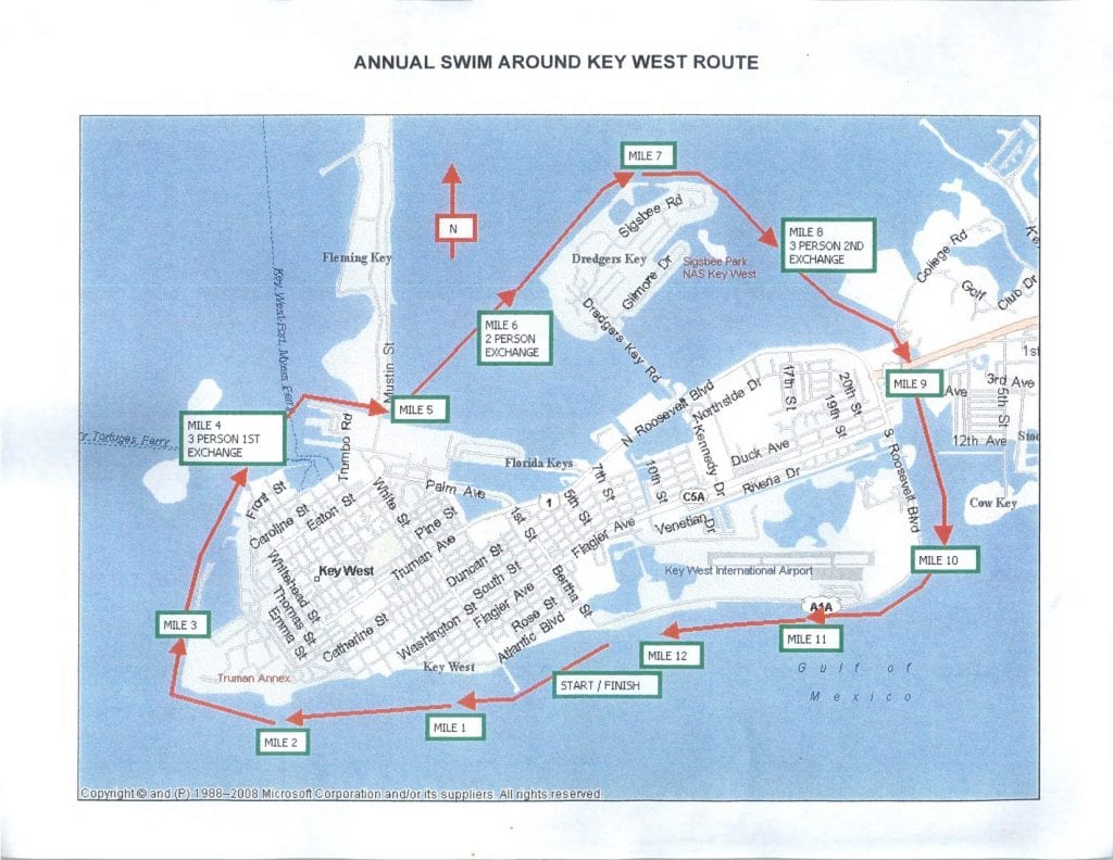 Swim Key West Map